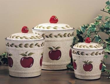 "Apple Canister Set of Three ""Country"