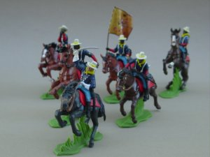 Britains Deetail Toy Soldiers by DSG - Commemorative US 10th Cavalry Buffalo Soldiers Mounted