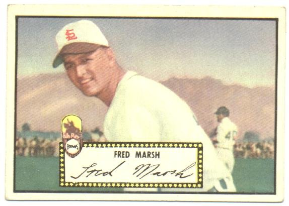 1952 Topps baseball card #8 Fred Marsh EX St. Louis Browns