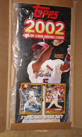 2002 Topps Baseball Cards promotional promo sign - Albert Pujols - never used! St. Louis Cardinals