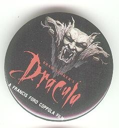 Dracula Movie promo promotional pin button, Francis Ford Coppola