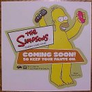 Simpsons collectible trading card game (CCG) promo promotional sticker, 2002