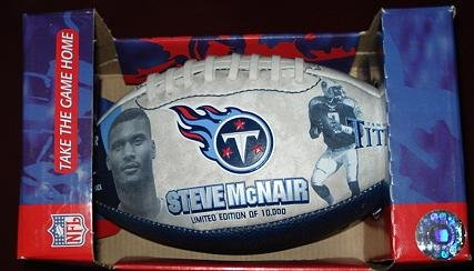 Steve McNair collectible mini-football - Limited Ed - 1 of 10,000 MIP