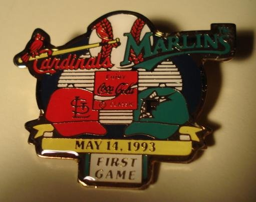 1993 Cardinals vs Marlins cloisonné or enamel pin