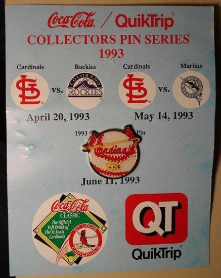 1993 QT Cardinals cloisonné or enamel pin