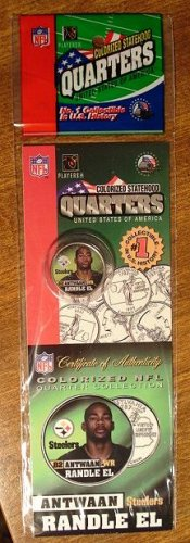Antwaan Randle El colorized state quarter - dated 2005 - MIP
