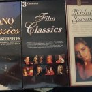 3 sets of audio cassette music - MIP - never opened! Classical, movies, Piano
