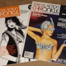 Science Fiction Chronicle fantasy magazine - 1992 V15, #6 & V8, #11, both Nm / Mint condition