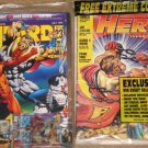 Wizard magazine # 23 & Hero Illustrated magazine # 8 comic book fan mags - both NM / M