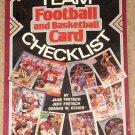 Sport Americana Football & Basketball card Team Checklist book #1, NM / MINT
