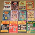 9 Different old card price and identification guides - Baseball, Football, Hockey, Basketball