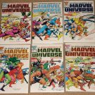 Official Handbook to the Marvel Universe (Deluxe Series) #'s 1, 2, 10, 11, 13, 14 - all NM / MINT