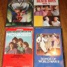 4 Audio cassette music tapes - Beach Boys, Monkees, Van Halen, Songs of WW II