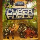 Cyber Force Mega Heroes multi-packs Battle Stryker & Buzzcut 1995 MIP, CyberForce