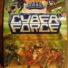 Cyber Force Mega Heroes multi-packs Dark Shield, Ripclaw & Gunmen 1995 MIP, CyberForce