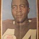 1968 Topps Football poster insert - Leroy Kelly, Cleveland Browns