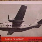 1956 Topps Jets card #42 - C123B Avitruc, assault transport VG / EX
