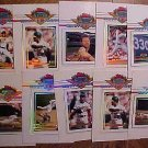 1993 Topps Stadium Club Master Photo card assortment - 17 cards baseball & Hockey