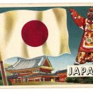 1956 Topps Flags of the World Japan card EX