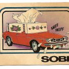 Sobb (Saab) car automobile trading card - unknown brand or date, G/VG