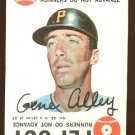 1968 Topps baseball game card #25 Gene Alley EX, MC