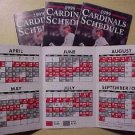 1999 St. Louis Cardinals baseball game schedule - trifold, Mint, Mark Mcgwire