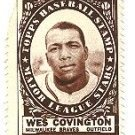 1961 Topps baseball stamp - Wes Covington Milwaukee Braves