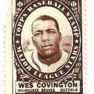 1961 Topps baseball stamp - Wes Covington Milwaukee Braves