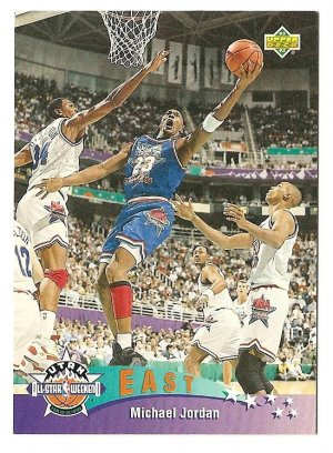 1992 - 1993 Upper deck basketball card #425 Michael Jordan All Star NM