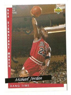 1993 - 1994 Upper deck basketball card #237 Michael Jordan Hang time NM/M