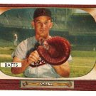 1955 Bowman baseball card #161 Matt Batts Baltimore Orioles EX