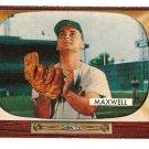 1955 Bowman baseball card #162 Charlie Maxwell Baltimore Orioles VG