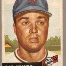 1953 Topps baseball card #11 Sal Yvars G+ New York Giants