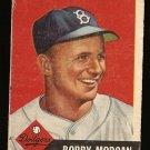 1953 Topps baseball card #85 (B) Bobby Morgan Good condition, Brooklyn Dodgers