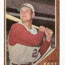 1962 Topps baseball card #148 Walley Post, VG, Cincinnati Reds