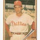 1962 Topps baseball card #374 Gene Mauch, EX, Philadelphia Phillies