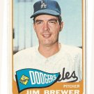 1965 Topps baseball card #416 Jim Brewer EX, Los Angeles Dodgers