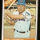 1966 Topps baseball card #43 Don Landrum NM, Chicago Cubs