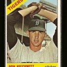 1966 Topps baseball card #38 Ron Nischwitz EX Detroit Tigers
