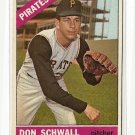 1966 Topps baseball card #144 Don Schwall EX Pittsburgh Pirates