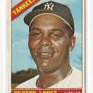 1966 Topps baseball card #177 Hector Lopez VG New York Yankees