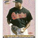2000 Pacific Prism baseball card #19 Calvin Pickering NM/M Baltimore orioles