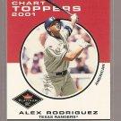 2001 Fleer Platinum baseball card #423 Alex Rodriguez Chart Toppers NM/M