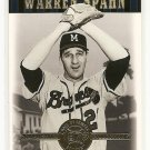 2001 Upper Deck baseball card #4 Warren Spahn NM/M Cooperstown Collection