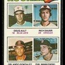1977 Topps baseball card #477 (D) Rookies Doug Alt, Rich Dauer Orlando Gonzalez Phil Mankowski NM
