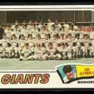 1977 Topps baseball card #211 San Francisco Giants team and checklist NM/M
