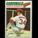 1977 Topps baseball card #19 John D'Acquisto NM/M St. Louis cardinals