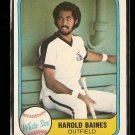 1981 Fleer baseball card #346 Harold Baines RC NM/M Chicago White Sox