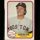 1981 Fleer baseball card #224 Carlton Fisk NM/M Boston Red Sox