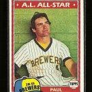 1981 Topps Baseball card #300 (B) Paul Molitor NM Milwaukee Brewers